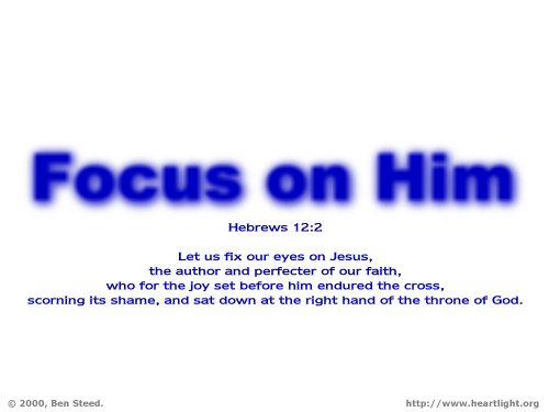 Looking to Jesus, the founder and perfecter of our faith, who for the joy that was set before him endured the cross, despising the shame, and is seated at the right hand of the throne of God. Consider him who endured from sinners such hostility against himself, so that you may not grow weary or fainthearted. Heb 12:2-3
